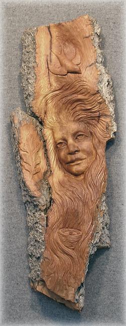 Female Bark Carving