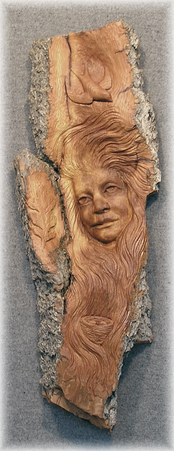 Female Bark Carving
