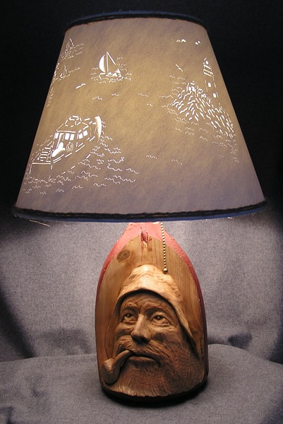 Fisherman Lamp Shade Finished Lamp And Shade