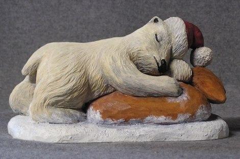 Polar Bear Cub Santa-Finished-Front view