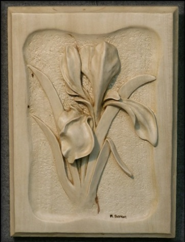 Daffodil Relief Carving.SOLD