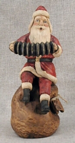 Concertina Santa..First in the Musical Santas series. SOLD