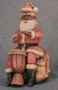 African Drummer Santa...Third in my Musical Santas Series. Originally $1800. Contact me.