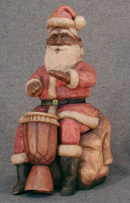 African Drummer Santa...Third in my Musical Santas Series. Originally $1800. Contact me.