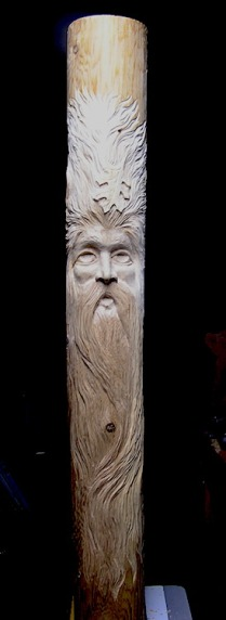 It's not cottonwood bark, but it is a Wood Spirit--carved in a 6' Cedar Fence Post $225.00