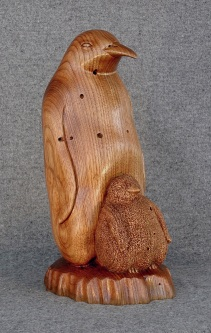 Penguin and Chick, Butternut. $800.00
